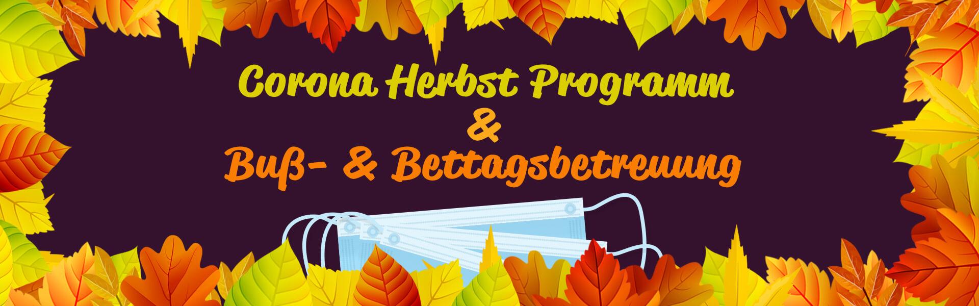 Bannerbild Corona Herbst Programm Stadtjugendpflege Moosburg